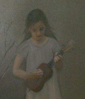 flicka med en mandolin