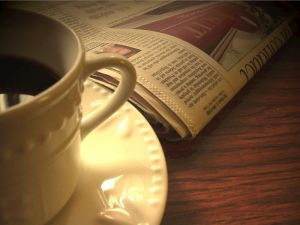 kaffe + tidning