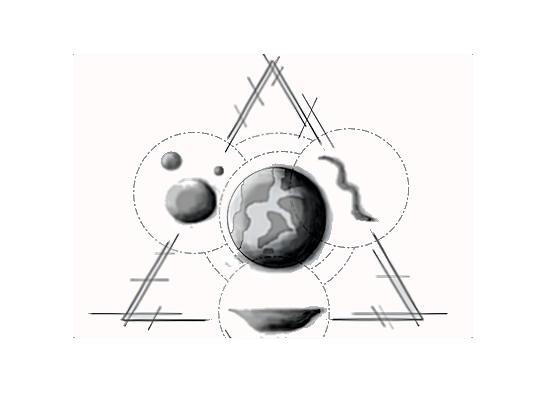 en orätvinklig triangel